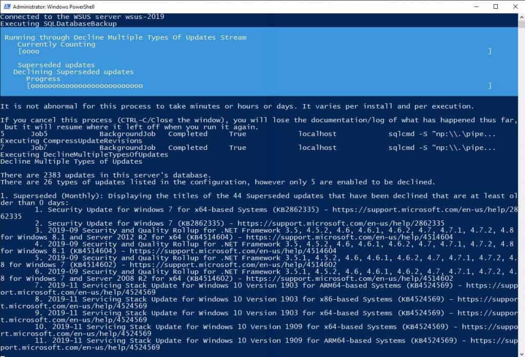 AJ Tek WSUS Maintenance tools PowerShell