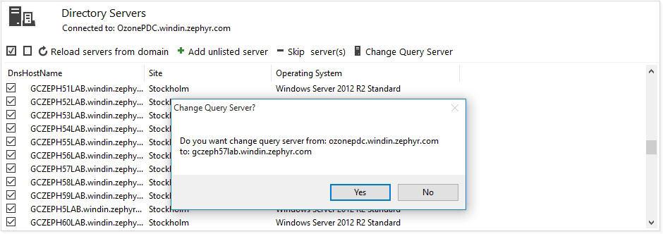 Change Server