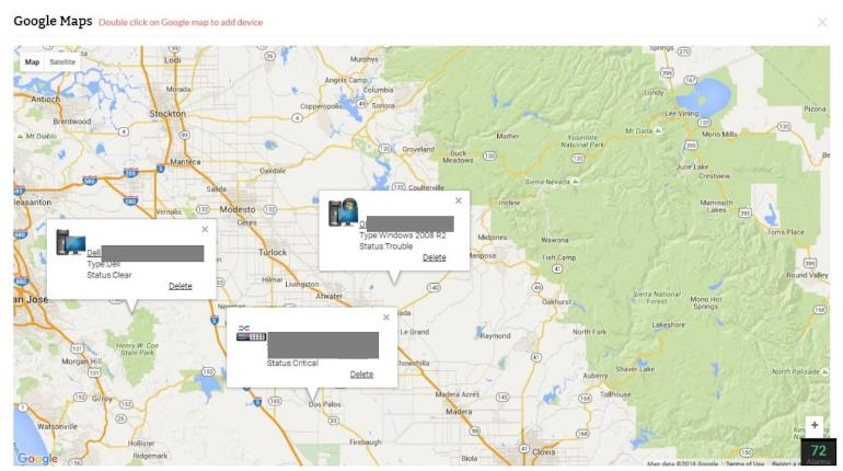 ManageEngine OpManager Google Maps Overlay
