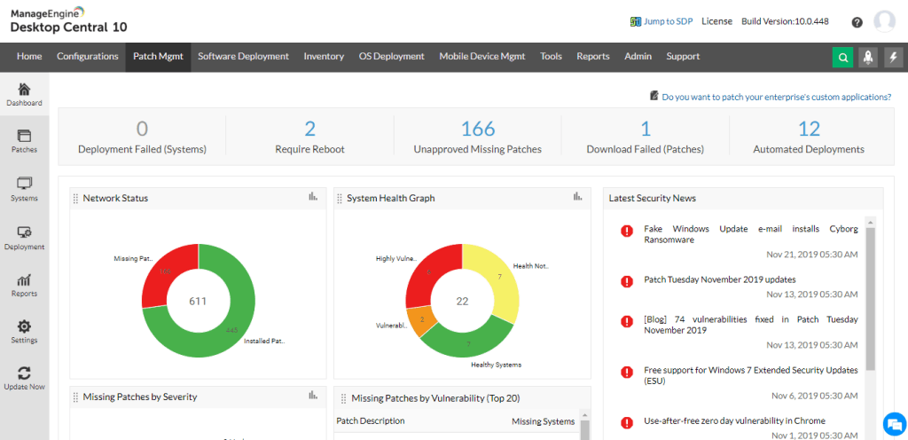 Manageengine Application Patch manager