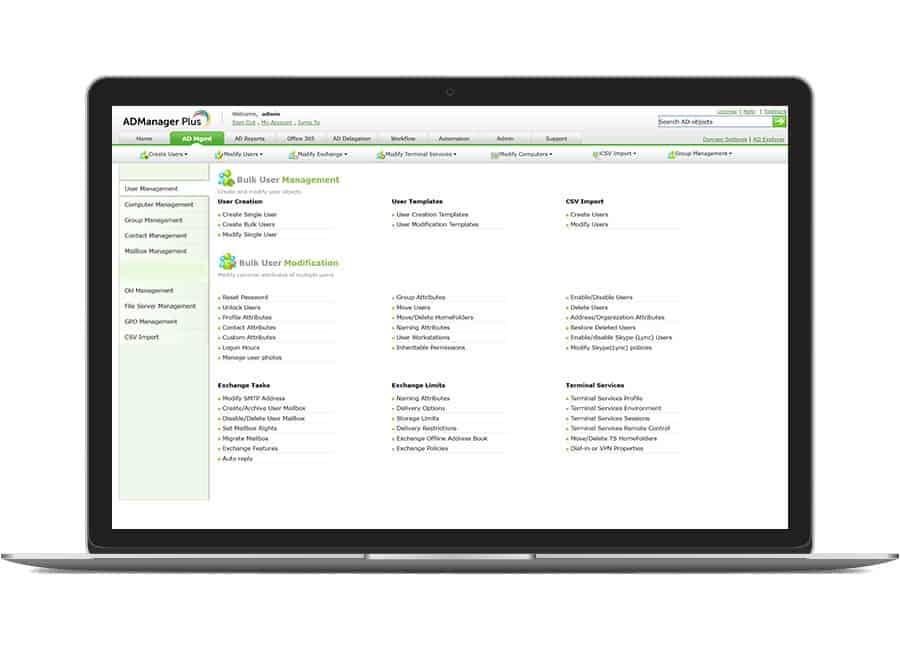 Management & bulk tools