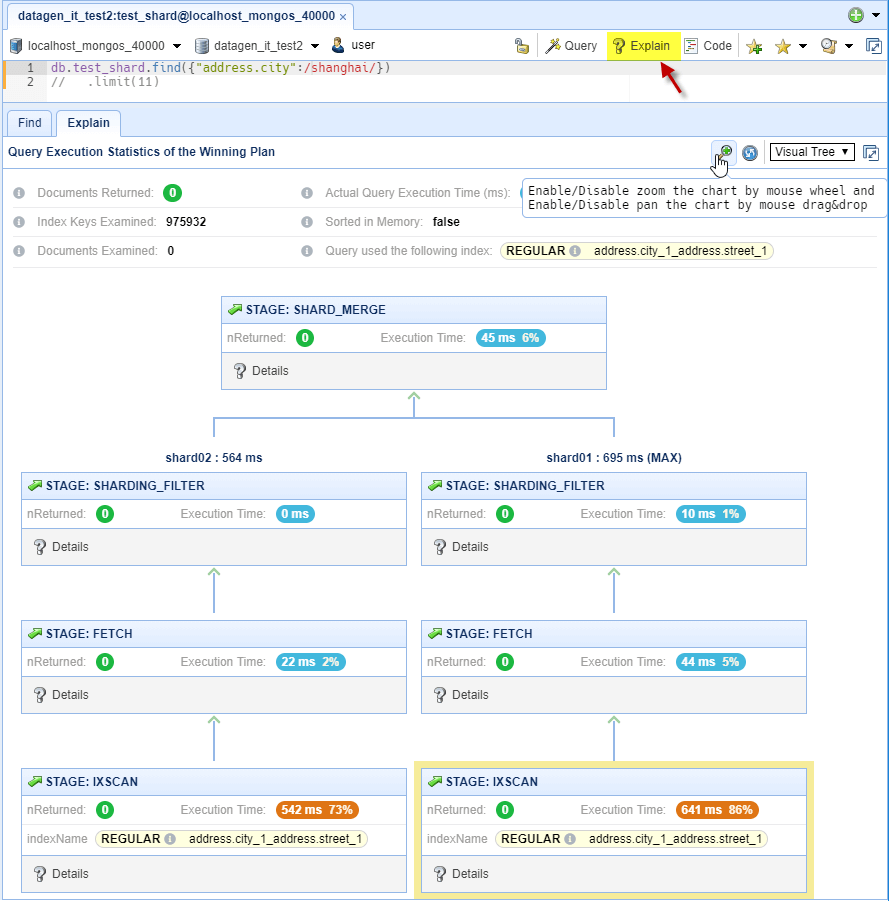 NoSQL Booster mongodb monitoring
