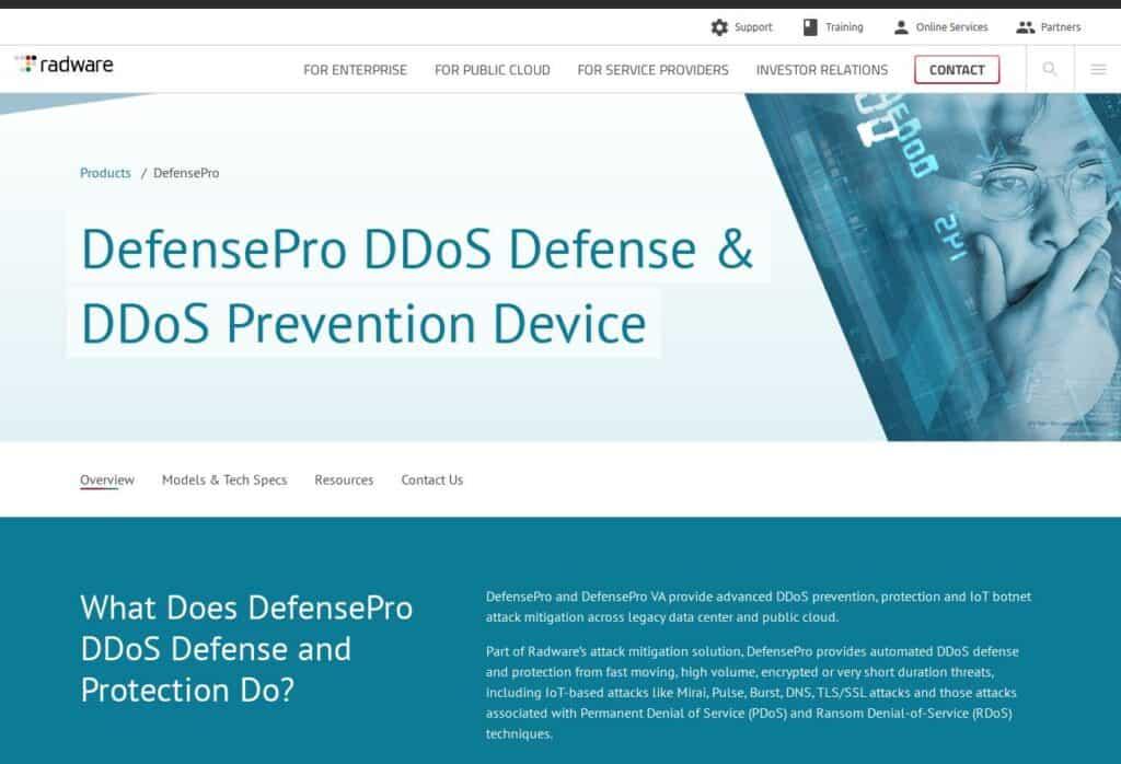Radware DefensePro DDoS Defense