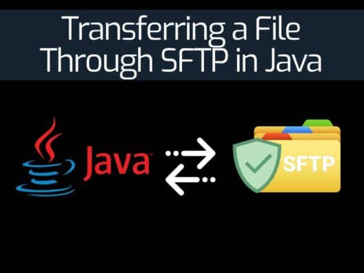 Transferring a File Through SFTP in Java