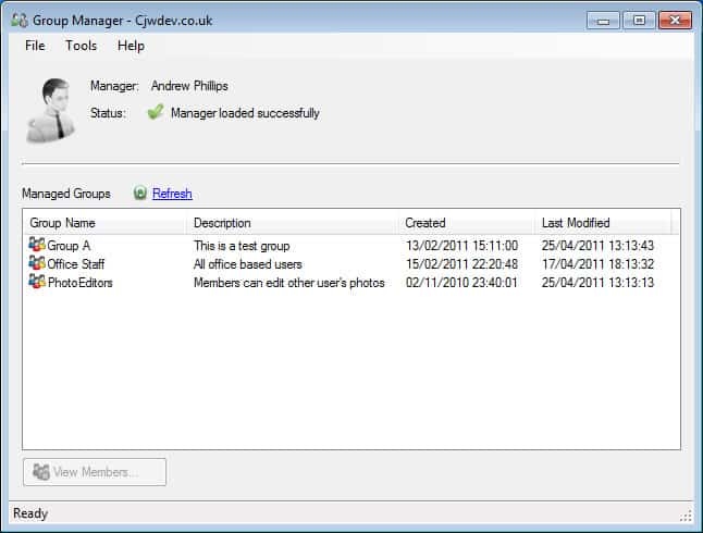 ad-group manager configure