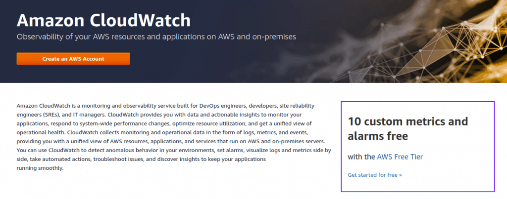AWS CloudWatch serverless monitoring