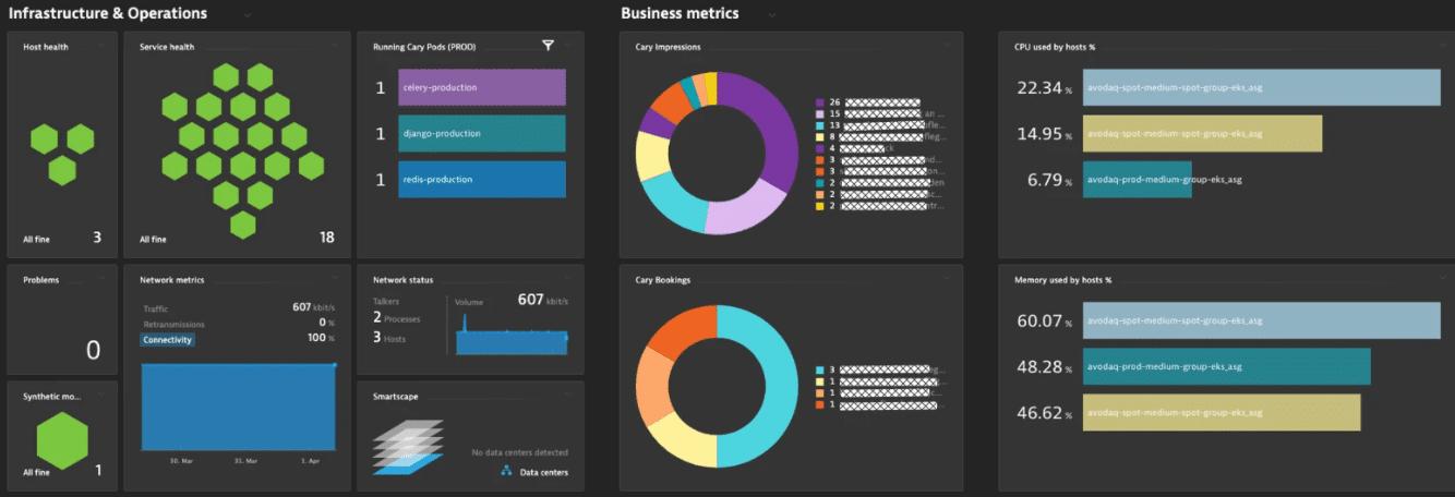 Dynatrace's Python Monitoring Tool Dashboard