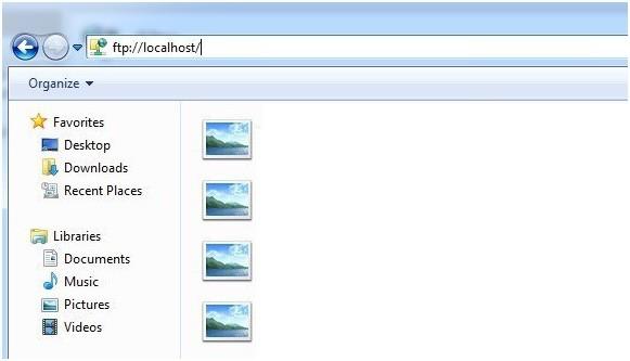 files on ftp server windows 7