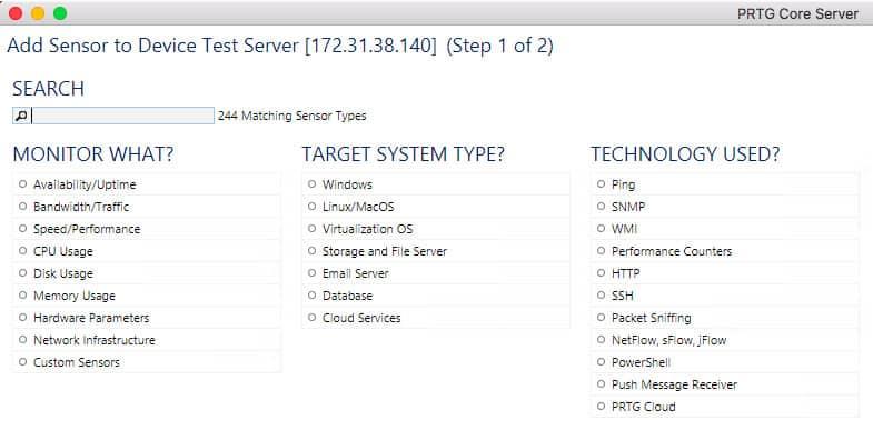 Sensor Screenshot