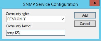 snmp add comm