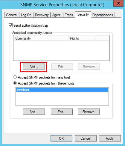 snmp service security