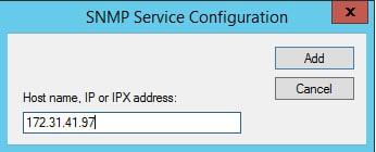 snmp add host