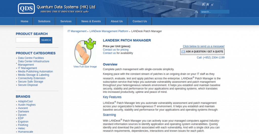 Landesk Application Patch manager