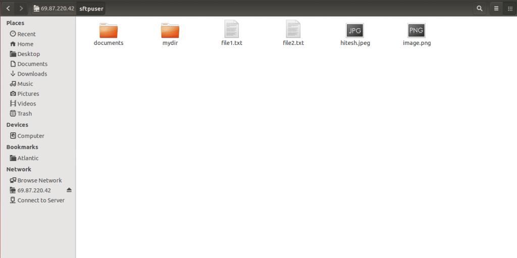 List SFTP Content