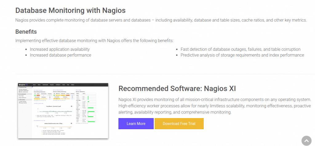 nagios database monitoring