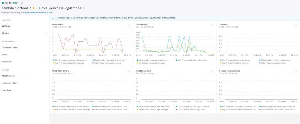 New Relic serverless monitoring