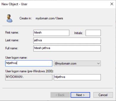 provide user information