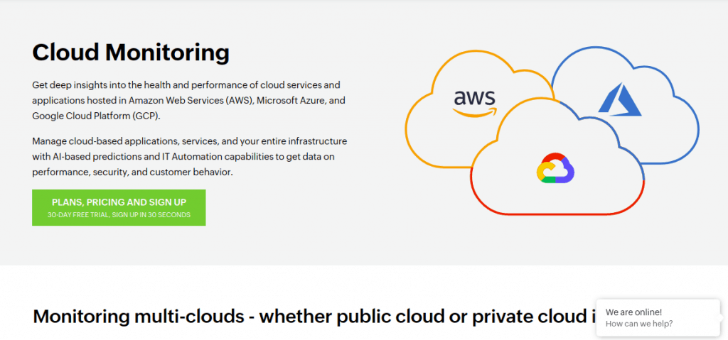 site24x7 cloud monitoring