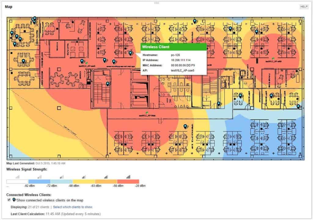 solarwinds heatmap tool manage clients & mac addresses