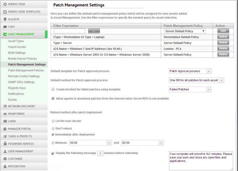 Sysaid Application Patch manager