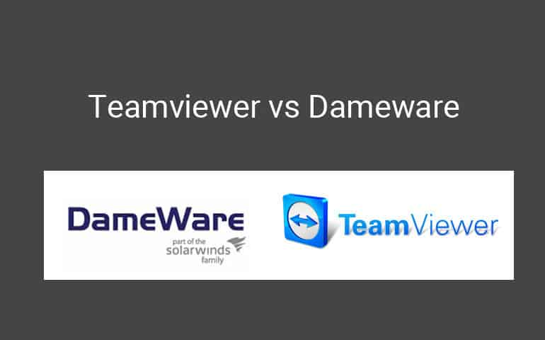 teamviewer vs dameware