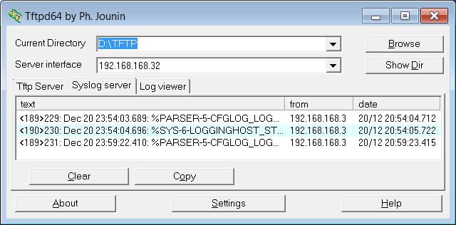 tftpd32 syslog option